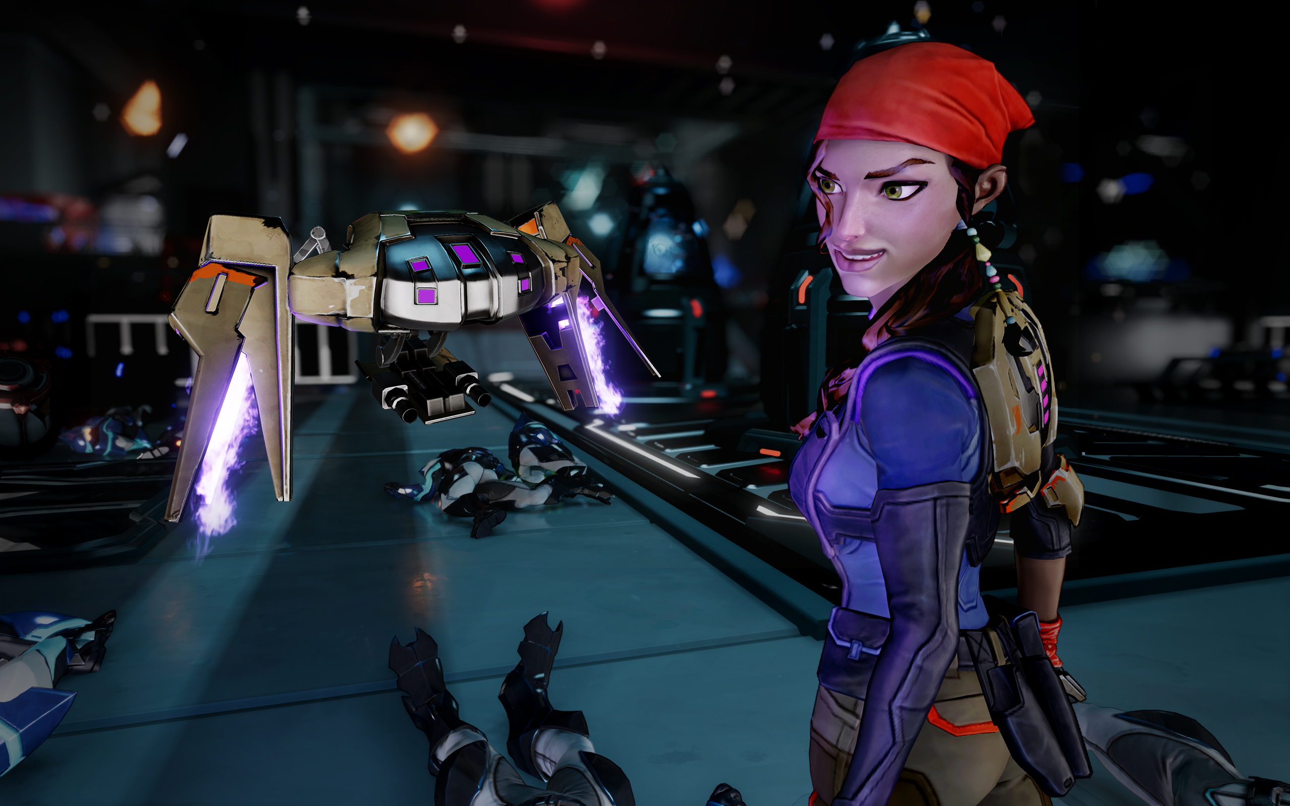 Обои game, weapon, gun, girl, Agents of Mayhem. Игры foto 14