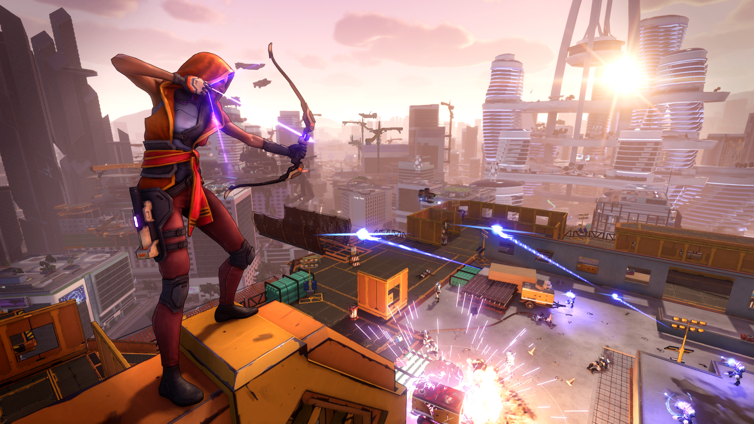 Обои game, weapon, gun, girl, Agents of Mayhem. Игры foto 17
